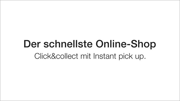 Fust Click & Collect mit Instant pick up.