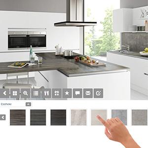 konfigurator die k chen visualisierung fust online shop f r elektroger te heimelektronik. Black Bedroom Furniture Sets. Home Design Ideas