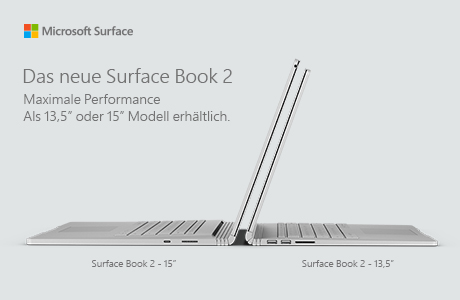 Produktneuheit Surface Book 2