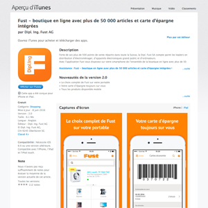 L'application de Fust dans l'App Store