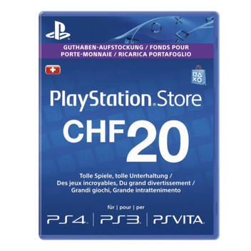 PS Live Card CHF 20.-