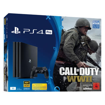 PS4 1TB Pro + Call of Duty: WWII DE