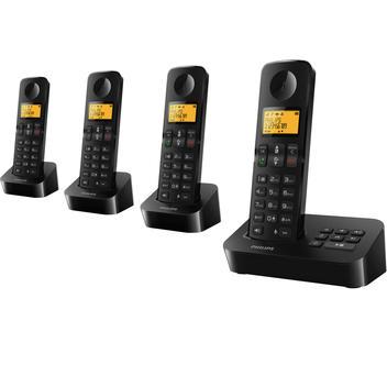 Téléphone fixe PHILIPS D2054 NOIR QUATTRO AVEC REPONDEUR