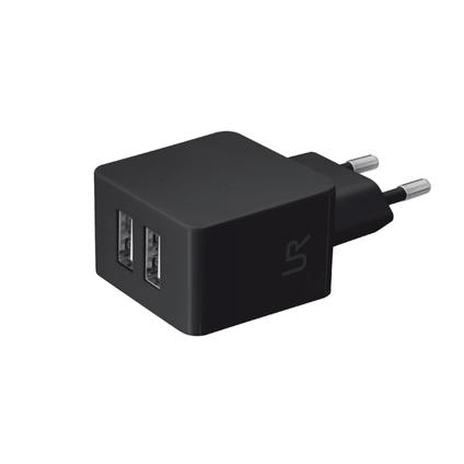 Dual Smartphone Wall Charger black
