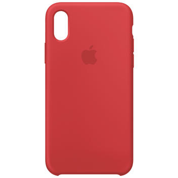 iPhone X Silikon Case Red