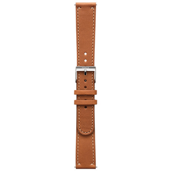 Wristband brown leather 18mm