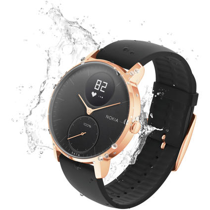 Steel HR Rose Gold Black/36mm