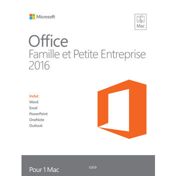 Office 2016 MAC Famille et Pet.Ent.pri F