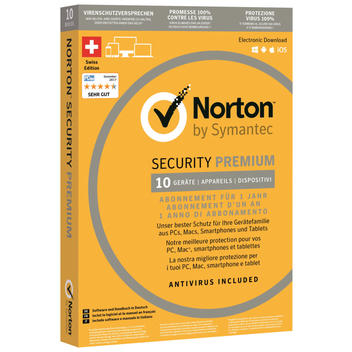 Norton Sec. Premium,1 Ano,10 dispositivi