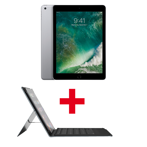 iPad 32 GB WiFi Spacegrau + Tastatur