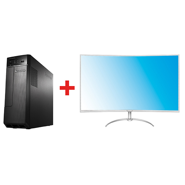 Ideacentre 300-S11IB + PhilipsBDM4037UW Curved