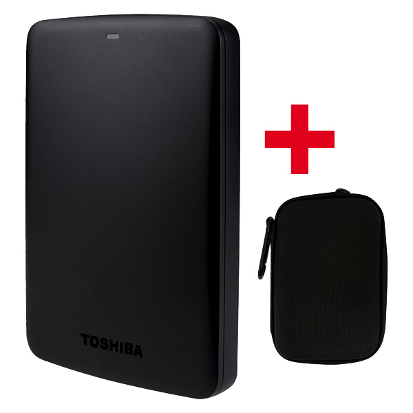 Canvio Basics 1TB Harddisk e Harddrive Case black