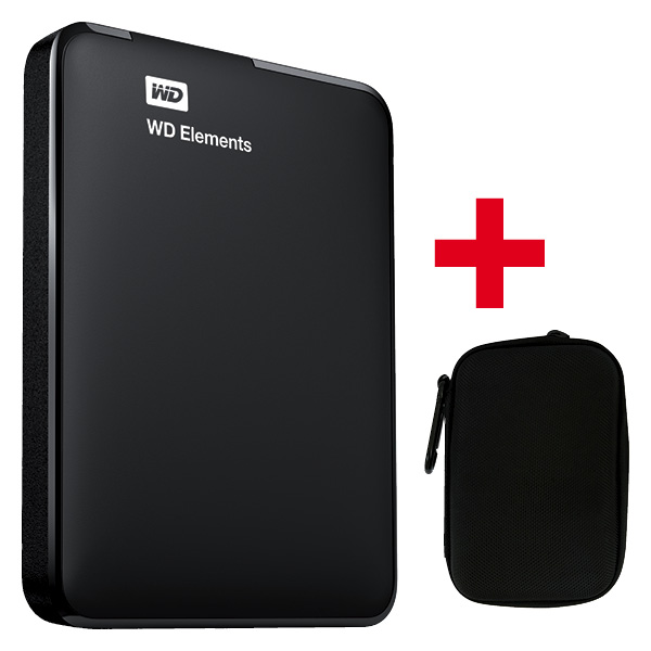 Elements Portable 1TB Harddisk e Harddrive Case black