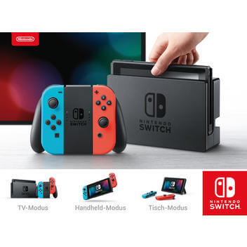Nintendo Switch Neon Rot / Blau