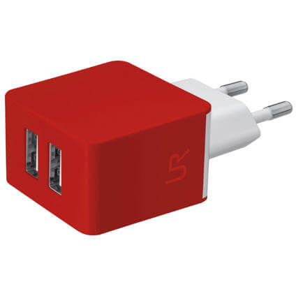 Dual Wall Charger rouge