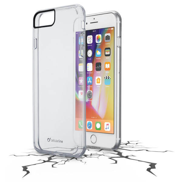 Cellularline Clear Duo - iPhone 8 Plus/7 Plus Custodia rigida