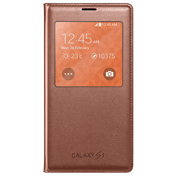 S-View FlipCover gold Galaxy S5