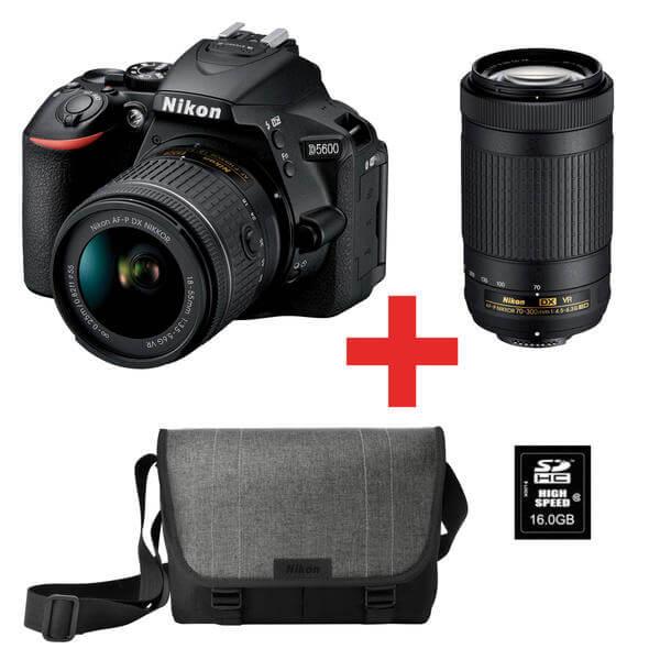Nikon D5600 + 18-55mm + 70-300mm Kit