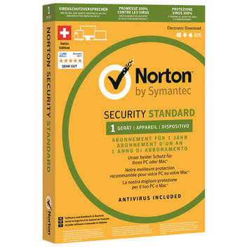 Norton Security Standard,1 ano,1 dispos.