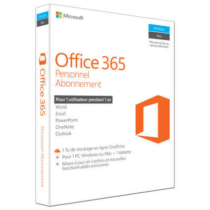 Office 365 Perssonal, Francese