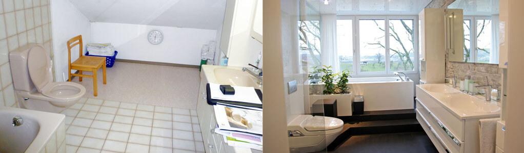 Badezimmer Umbau Vorher Nachher